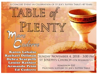 table of plenty concert poster